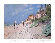 Beach at Trouville, 1870 Foto von Claude Monet bei AllPosters.de
