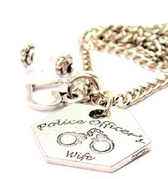 Police Officers Wife Necklace  with crystal by CorsoStudio on Etsy, $15.99