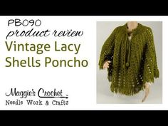 Vintage Lacy Shells Poncho Product Review PB090 - YouTube