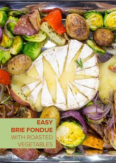 Robyn Lawley's Brie Cheese Fondue with Roasted Vegetables
