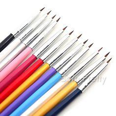 $4.97 12pcs Nail Art Brush Set Liner Drawing Lin Pen Paint Nail Art Tools - BornPrettyStore.com
