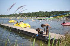 Waterfietsen, van de glijbaan of diertjes vangen. Het kan allemaal.