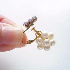 イヤリングのバックをパールに!ビーズボールの作り方 | 簡単DIY!numakoのブログ Face Earrings, Diy Earrings, Handmade Accessories, Beaded Embroidery, Diy And Crafts, Jewelry Design, Beads, How To Make, Ear Rings