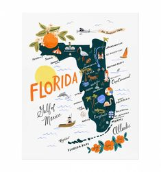 Florida Art Print by RIFLE PAPER Co. | Made in USA