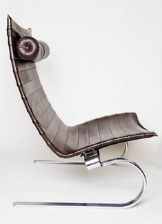 Easy Chair by Poul Kjaerholm Danish Furniture, Contemporary Furniture, Cool Furniture, Furniture Design, Palette Deco, Poul Kjaerholm, Barcelona Chair, Take A Seat, Cool Chairs