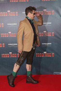 Robert Downey Jr - Iron Man 3 Premier. Munich. Love him!