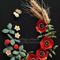 quilled-poppies-wheat-strawberries