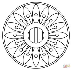 Mandala com Padrão Floral | Super Coloring