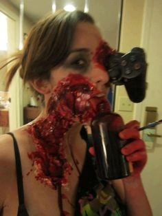 How to make a makeup zombie