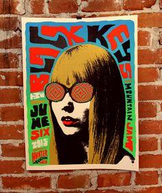Black Keys Mountain Jam Gig Poster
