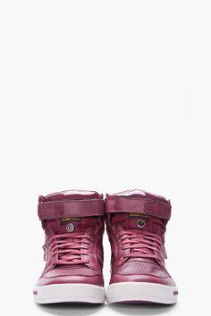 G-Star - Burgundy Leather Yard Bullion Sneakers  150 Men s Style, Burgundy,  Male 4aa1fa30c49