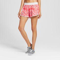 Women's Fashion Run Shorts - Neon Flare Print Xxl - C9 Champion, Pink