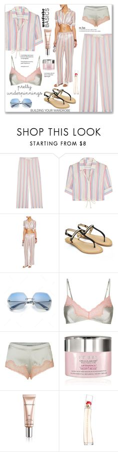 """The prettiest: underpinnings"" by faten-m-h ❤ liked on Polyvore featuring Solid & Striped, Elle Macpherson Body, By Terry, Giorgio Armani, Kenzo and prettyunderpinnings"