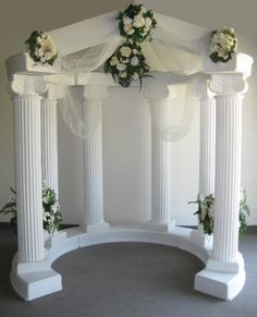 pic of weddin column wedding column arches