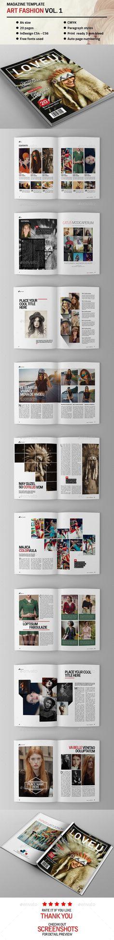 Art Fahion Magazine Template | Download: http://graphicriver.net/item/art-fahion-magazine-vol-1/9822137?ref=ksioks