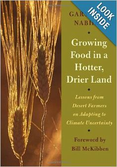 traditional ecological wisdom of indigenous desert farmers :  Growing Food in a Hotter, Drier Land: Lessons from Desert Farmers on Adapting to Climate Uncertainty  by Gary Paul Nabhan (Author) , Bill McKibben (Foreword)