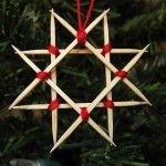 Estrela de Natal de Palito de Dentes