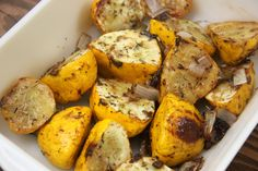 Sweet and Tangy Roasted Patty Pan Squash - A Little Rosemary and Time - sub w/paleo approved Side Recipes, Vegetable Recipes, Whole Food Recipes, Vegetarian Recipes, Cooking Recipes, Fall Recipes, Veggie Side Dishes, Vegetable Dishes, Patty Pan Squash Recipes
