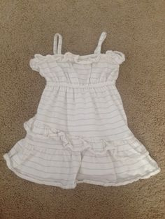 Check out this listing on Kidizen: Gap White and Silver Striped Sundress via @kidizen #shopkidizen