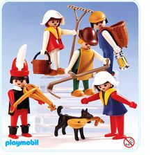 a playmobil set from 1984 depicting an old fashioned. Black Bedroom Furniture Sets. Home Design Ideas