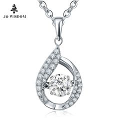2016 Hot Sale 100% 925 Sterling Silver Jewelry Necklace Women Accessories wholesale with Dancing Diamond best gift for women