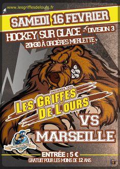 ORCIERES MERLETTE  - 16 février - 20h30 - Match de Hockey Orcières / Marseille - Match de D3 - Patinoire de la Grande Ourse, Palais des spots et des loisirs - Tarifs : 5€ / Gratuit -12 ans