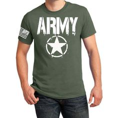 Army T Shirt US Military Solider by AmericanHeyday on Etsy