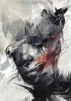 You might have already heard of Russ Mills. If not, let us tell you who this incredible artist is. Between urban fine art and contemporary graphics, Russ creates collisions of real and digital media with a firm foundation in drawing. L'art Du Portrait, Abstract Portrait, Portraits, Contemporary Abstract Art, Abstract Charcoal Art, Modern Art, Pop Surrealism, Art Graphique, Cool Artwork