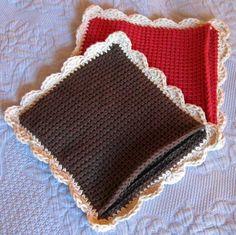 Tunisian Crocheted Potholders