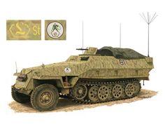 SdKfz 251/3 Ausf D - Véhicule de communication avec équipement radio supplémentaire pour les besoins du commandement - Panzer Lehr
