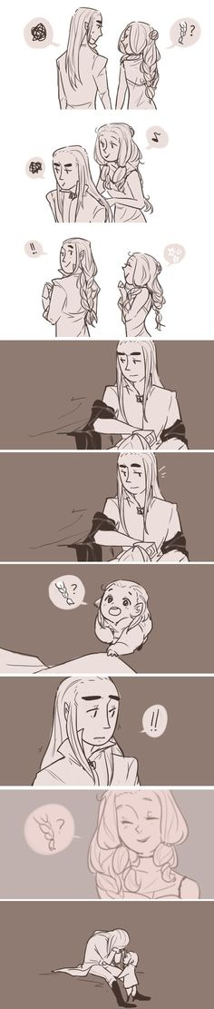 Thranduil his wife and Legolas. Well that hurt more than expected<<<It hurt like a knife cutting though my soul.