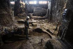 Archeologia Roma: Scoperti resti di dimora arcaica del VI secolo a.C. all'interno di Palazzo Canevari sul colle del Quirinale.