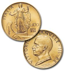"100 Lire ""Italia su prora"""