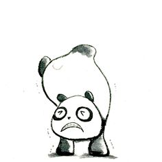 【一日一大熊猫】 2015.5.17 逆立ちって、実は健康に良くないんだって。 て、健康に良いと言われてた事があるのを知らない。。。 #パンダ #逆立ち http://osaru-panda.jimdo.com