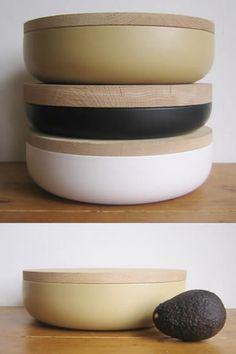 ceramic containers.