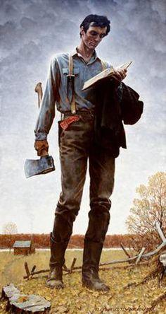 "Norman Rockwell 1965 ""Lincoln the Railsplitter"""
