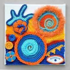 Novembre chez Marie Crochet Motifs, Freeform Crochet, Irish Crochet, Crochet Stitches, Crochet Patterns, Yarn Bombing, Crochet Wall Art, Crochet Carpet, Crochet World