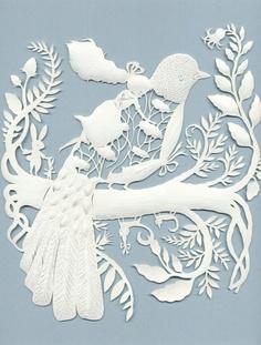 Elsa Mora paper cutting - girl riding a bird Kirigami, Paper Cutting, Cut Paper, Papercut Art, Grand Art, Paper Magic, Paper Artwork, Paper Flowers, Paper Lace