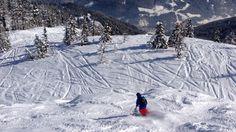 Skiën in verse sneeuw