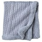 Circo® Heirloom Cable Knit Baby Blanket -  Winter Grey with Grey Trim