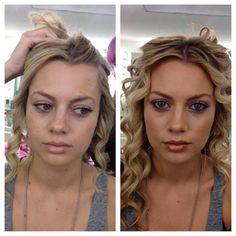 Before/After Makeup Transformation. Great for wedding makeup!  Makeup by Joanne Adolfo www.joanneadolfo.com