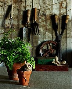 """This spring I WILL have a potting bench and the """"stuff"""" that goes with it, please"""