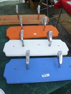 Coat hangers made with golf clubs