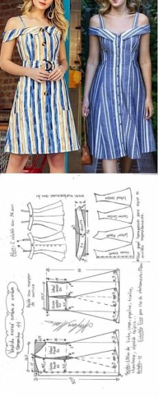 Шитье простые выкройки Vestido chamise com decote ombro a ombro - DIY - molde, corte e costura - Marlene Mukai // Taika Sewing Patterns Girls, Clothing Patterns, Dress Patterns, Vogue Patterns, Diy Clothing, Sewing Clothes, Barbie Clothes, Fashion Sewing, Diy Fashion