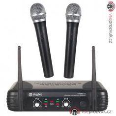 Skytec VHF mikrofonní set 2 kanálový, 2x ruční mikrofon | VšeProZvuk.cz Electronics
