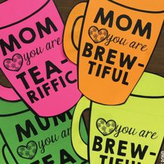 Mother's Day Mug Card {Coffee and Tea}Mother's Day is on its way and this card will be perfect for the mothers of your little ones!There are 2 alternative saying - 'you are TEA-RIFFIC' and 'you are BREW-TIFUL'. Students can choose one that is fitting for their special person!Students simply:-  choose a design - cut a 'front' and 'back' template- glue them together- write or complete a messageI have included alternatives for a variety of specific needs:- a spelling for 'mum' (for…
