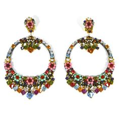 JJ Caprices - Colorful Circle Earrings by DUBLOS