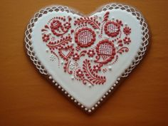Delicate stitchery with icing