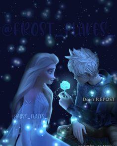 Disney Princess Facts, Sailor Princess, Disney Princess Frozen, Elsa Frozen, Jelsa, Dark Jack Frost, Disney Love Stories, Jack Frost And Elsa, Black Art Pictures