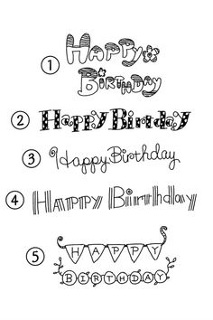 Happy Birthday handwritten letter logo eps image material – Graffiti World Hand Lettering Fonts, Doodle Lettering, Creative Lettering, Handwritten Letters, Brush Lettering, Lettering Design, Lettering Ideas, Typeface Font, Happy Birthday Doodles